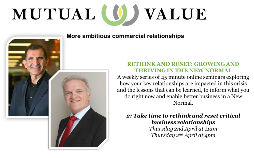 How your relationship capital will be critical when we re-emerge. A web seminar.
